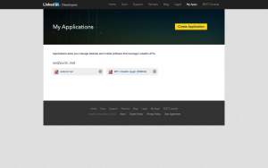Create application - Page 1